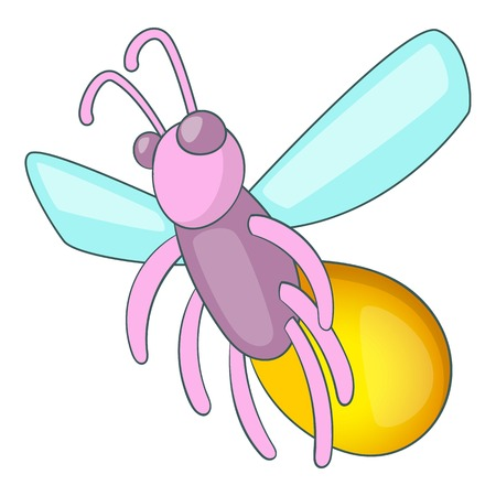 Firefly icon. Cartoon illustration of firefly vector icon for web design Illustration
