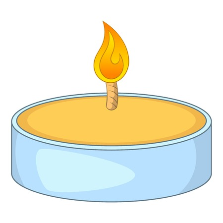 Tealight candle icon. Cartoon illustration of candle vector icon for web design