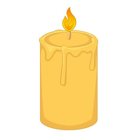 Aromatic candle icon. Cartoon illustration of candle vector icon for web design Illustration