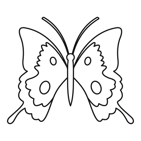 Butterfly icon. Outline illustration of butterfly vector icon for web Illustration