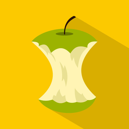 Apple core icon. Flat illustration of apple core vector icon for web