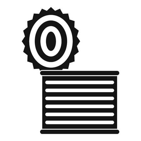 tincan: Tincan icon. Simple illustration of tincan vector icon for web