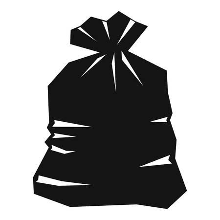 garbage bag: Garbage bag icon. Simple illustration of garbage bag vector icon for web
