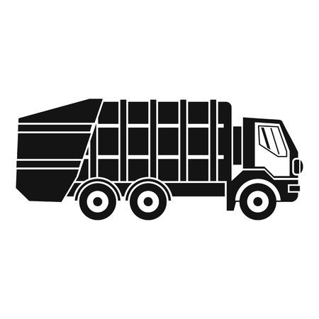 Ikona śmieciarki. Proste ilustracja śmieciarka wektor ikonę dla sieci web