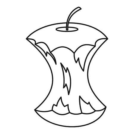 ripened: Apple core icon. Outline illustration of apple core vector icon for web