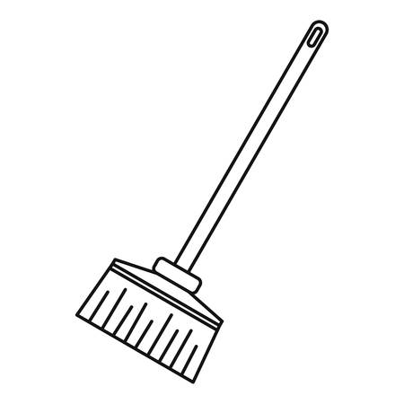 besom: Broom icon. Outline illustration of broom vector icon for web