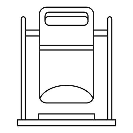 swinging: Swinging trashcan icon. Outline illustration of swinging trashcan vector icon for web