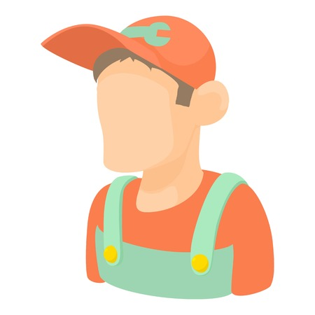 motor car candles: Mechanic icon. Cartoon illustration of mechanic vector icon for web