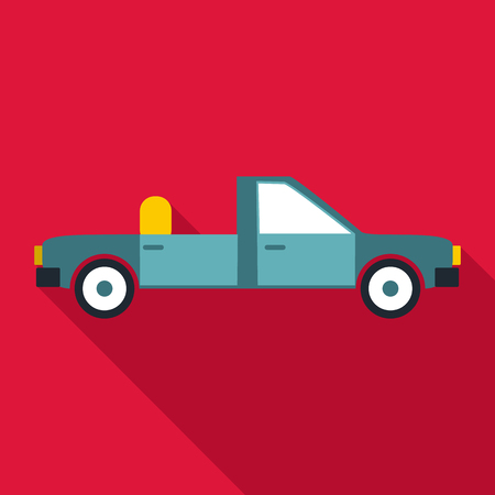 open car door: Open car icon. Flat illustration of open car vector icon for web
