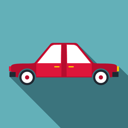 Car icon. Flat illustration of car vector icon for web