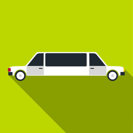 Limousine icon. Flat illustration of limousine vector icon for web Illustration