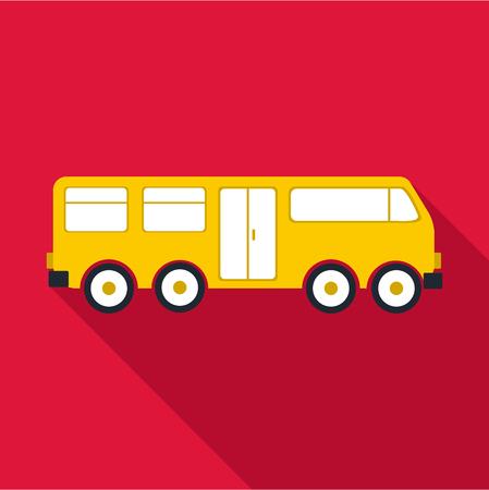 yellow schoolbus: Big bus icon. Flat illustration of big bus vector icon for web