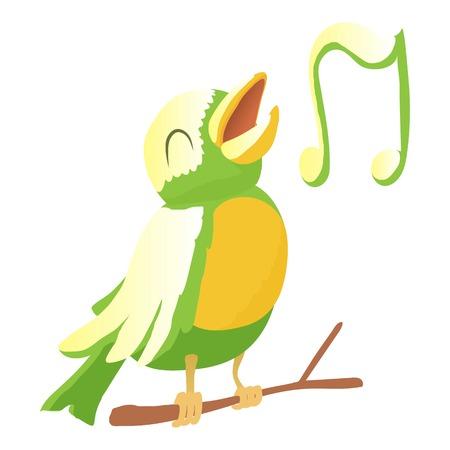 Bird icon. Cartoon illustration of bird vector icon for web