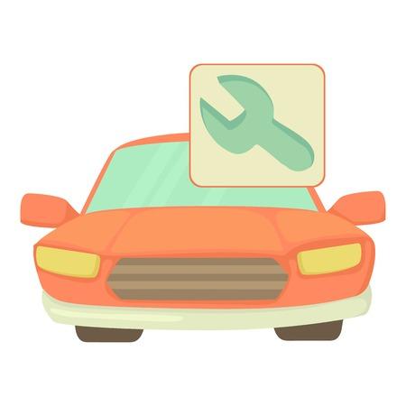 repairs: Car repairs icon. Cartoon illustration of car repairs vector icon for web Illustration