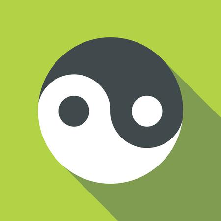 ying: Ying yang icon. Flat illustration of ying yang vector icon for web