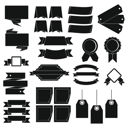 breeches: Different colorful labels icons set. Simple illustration of 16 different colorful labels vector icons for web