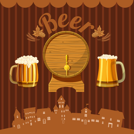 brewery: Brewery concept. Cartoon illustration of brewery vector concept for web Illustration