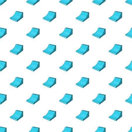 springboard: Trampolín para el patrón de snowboard. Ilustración de dibujos animados de trampolín para el patrón de snowboard vectorial para la web Vectores
