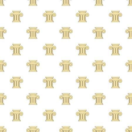 roman column: Roman column pattern. Cartoon illustration of roman column vector pattern for web