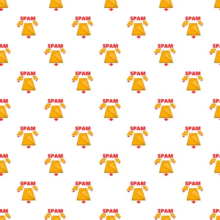 Spam e-mails pattern. Cartoon illustration illustration of spam e-mails vector pattern for web
