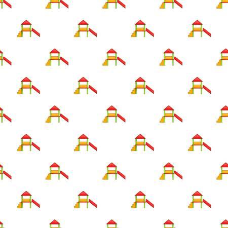 kiddies: Slide house pattern. Cartoon illustration of slide house vector pattern for web