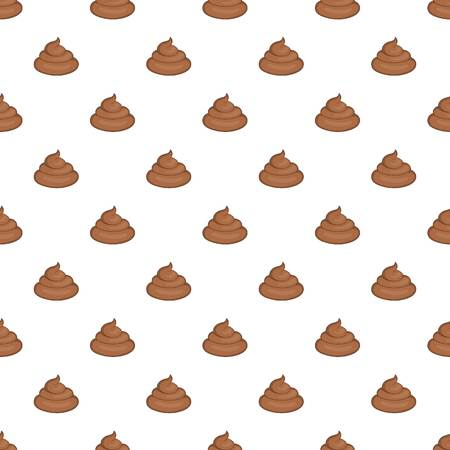 bowels: Turd pattern. Cartoon illustration of turd vector pattern for web