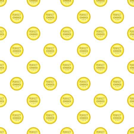 Label awesome quality pattern. Cartoon illustration of label awesome quality vector pattern for web