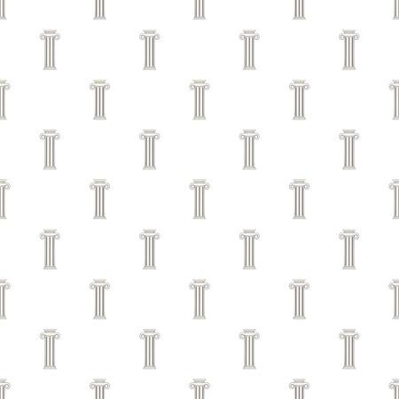 roman pillar: Decorative roman pillar pattern. Cartoon illustration of decorative roman pillar vector pattern for web Illustration