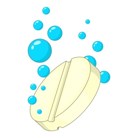 paracetamol: Soluble pill icon. Cartoon illustration of soluble pill vector icon for web design