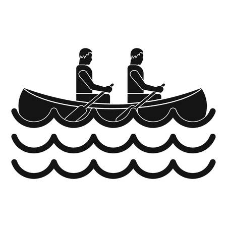 endurance: Canoeing icon. Simple illustration of canoeing vector icon for web