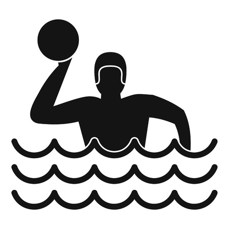 water polo: Water polo icon. Simple illustration of water polo vector icon for web