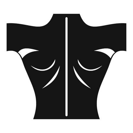 Icône de retour humain Illustration simple d'icône de vecteur de dos humain pour le web
