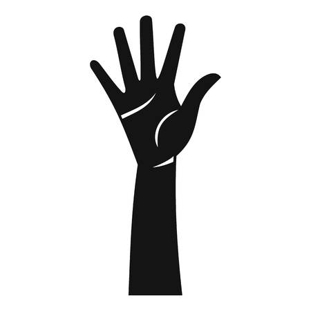 hi five: Hand icon. Simple illustration of hand vector icon for web