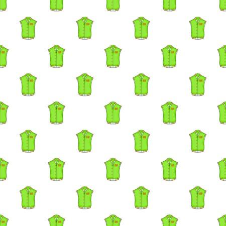 Green baseball jacket pattern. Cartoon illustration of green baseball jacket vector pattern for web Illustration