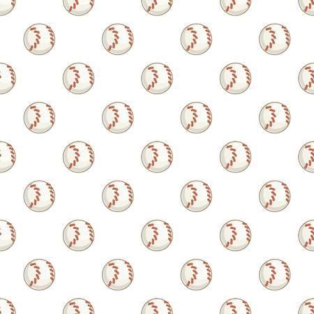 fastball: Baseball ball pattern. Cartoon illustration of baseball ball vector pattern for web