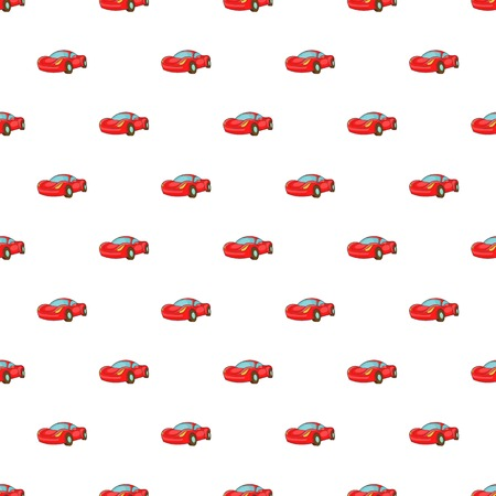 Red car pattern. Cartoon illustration of red car vector pattern for web