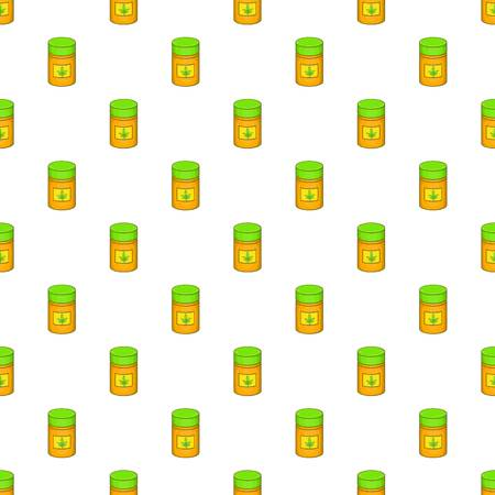 Medical marijua bottle pattern. Cartoon illustration of medical marijua bottle vector pattern for web