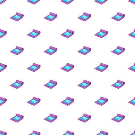 Modern flexible smartphone pattern. Cartoon illustration of modern flexible smartphone vector pattern for web