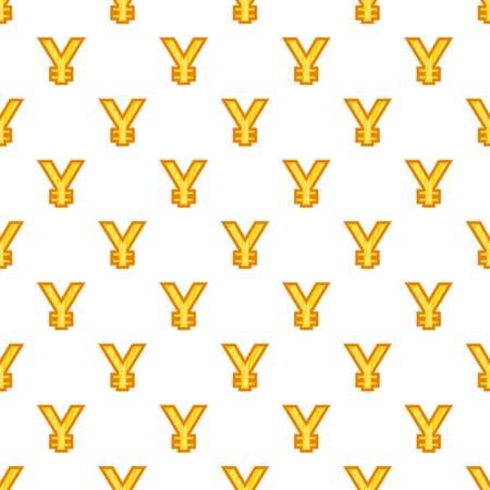 Japan yen sign pattern. Cartoon illustration of yen currency symbol vector pattern for web