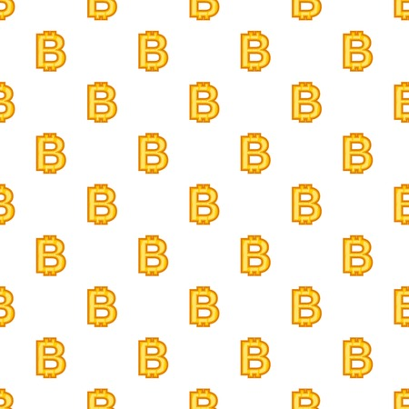 Bitcoin currency symbol pattern. Cartoon illustration of bitcoin currency symbol vector pattern for web