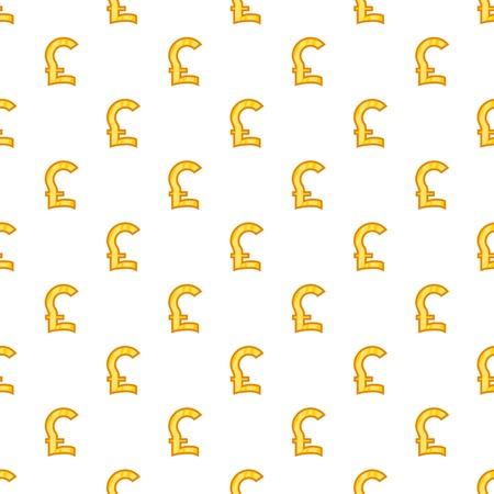 Pound Currency Symbol Pattern Cartoon Illustration Of Pound