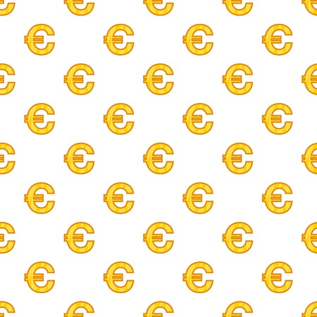Euro currency symbol pattern. Cartoon illustration of euro currency symbol vector pattern for web Illustration