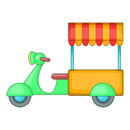 Food cart icon. Cartoon illustration of food cart vector icon for web design Illustration