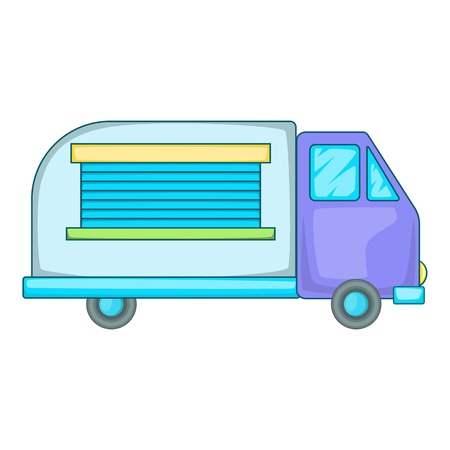minivan: Minivan family car icon. Cartoon illustration of minivan family car vector icon for web design Illustration