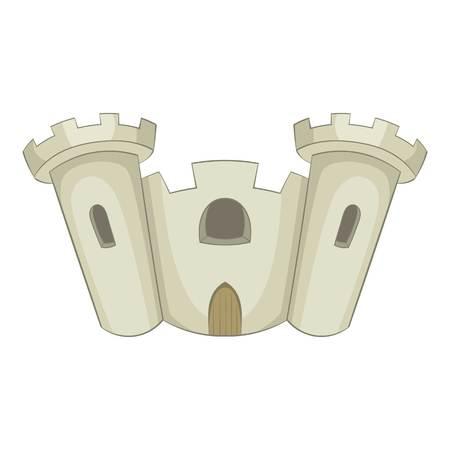 Ancient castle icon. Cartoon illustration of castle vector icon for web design