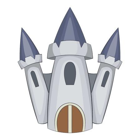 Cute castle icon. Cartoon illustration of castle vector icon for web design Illustration
