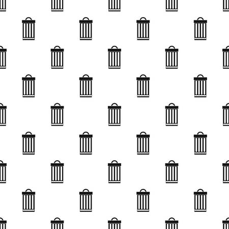 can pattern: Iron trash can pattern. Simple illustration of iron trash can vector pattern for web