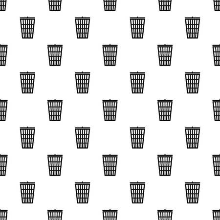 cesto basura: patrón de cesta de la basura. El ejemplo simple de patrón de vectores cesta de la basura para la web