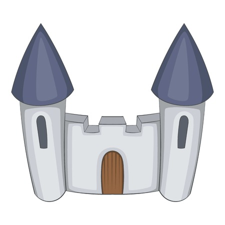 Fortress icon. Cartoon illustration of castle vector icon for web design