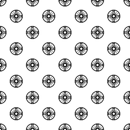 combatant: Round shield pattern. Simple illustration of round shield vector pattern for web Illustration